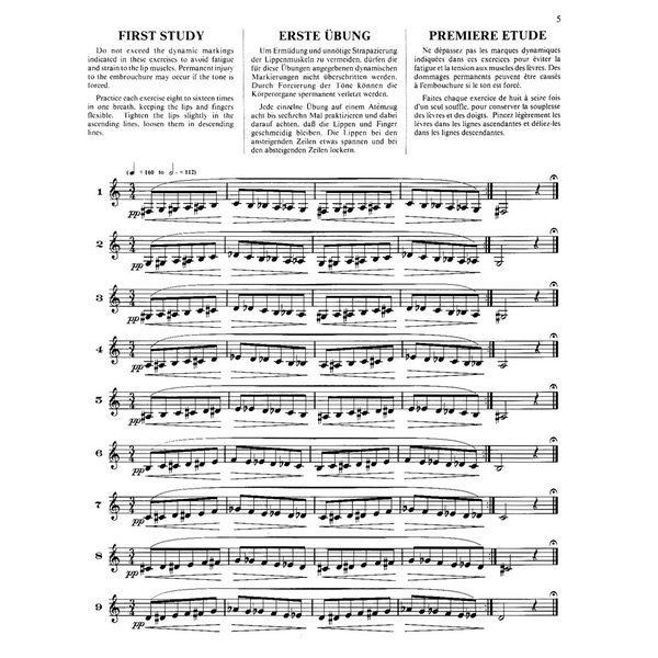 H. L. CLARKE, TECHNICAL STUDIES FOR THE CORNET - FIRST STUDY