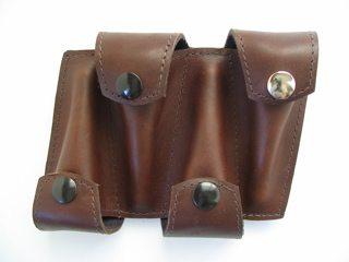 Torpedobag Munnstykkefutteral i tykt skinn - quad (4) sort