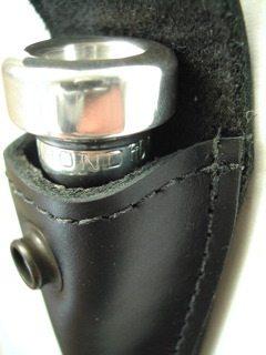 Torpedobag Munnstykkefutteral i tykt skinn - single sort