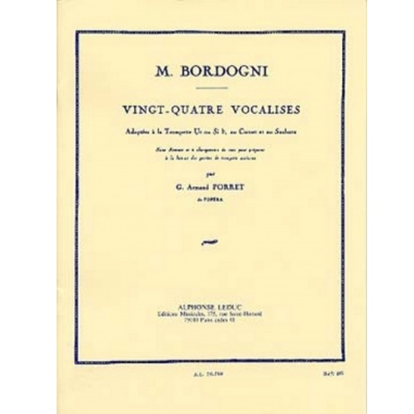 M. BORDOGNI: VINGT-QUATRE VOCALISES