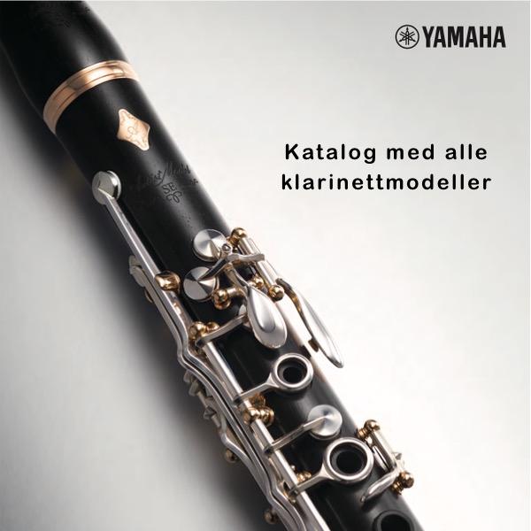 Katalog med alle klarinettmodeller fra Yamaha