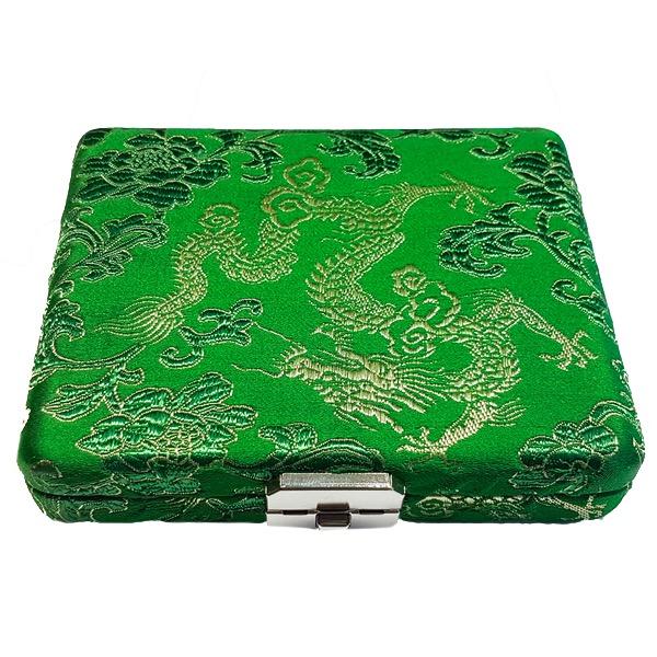 RØRETUI OBO 6 RØR - Grønn silke