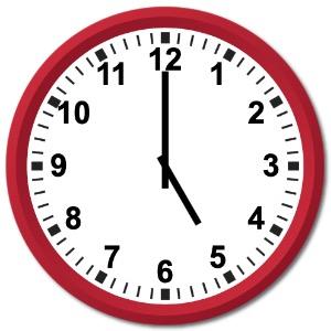Klokka 17:00