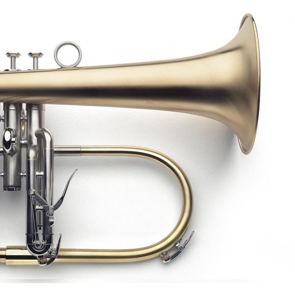 VAN LAAR FLYGELHORN FINISH - Raw Brass: Palladium