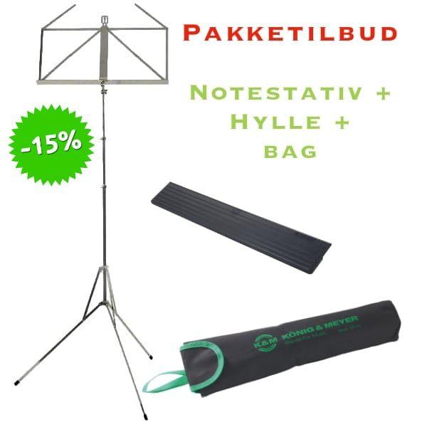 NOTESTATIVPAKKE II - WITTNER STATIV + HYLLE + BAG